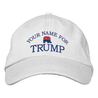 La coutume ajoutent le nom ou l'énoncent pour casquette brodée
