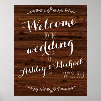 La coutume ajoutent le signe nommé de mariage de posters