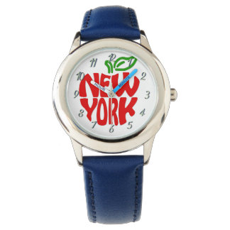 La coutume badine la montre bleue de New York par