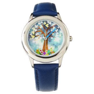 La coutume badine la montre bleue d'image d'art
