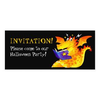 La coutume badine le dragon drôle Halloween de Carton D'invitation 10,16 Cm X 23,49 Cm