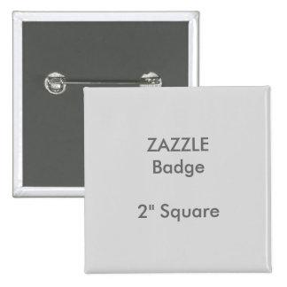 """La coutume de ZAZZLE a imprimé 2"""" GRIS carré Badges"""