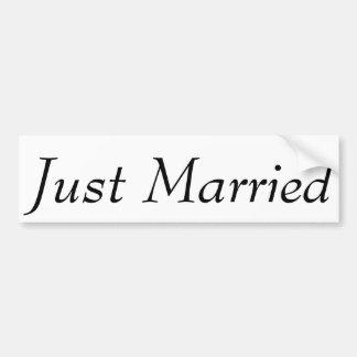 """La coutume """"juste a épousé"""" l'adhésif pour autocollant pour voiture"""