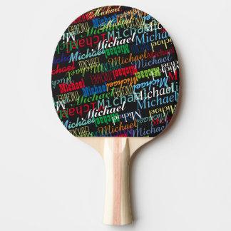 la coutume nommée du joueur coloré de table_tennis raquette tennis de table