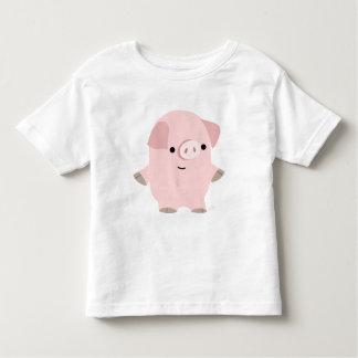La coutume tranquille de porc de bande dessinée t-shirt