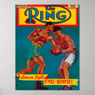 La couverture de magazine d'anneau posters