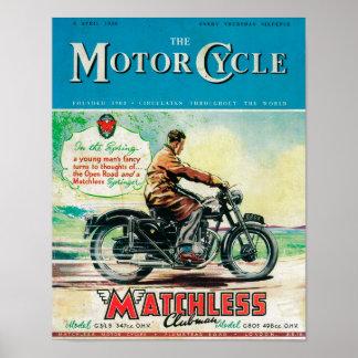 La couverture de magazine de motocycle posters