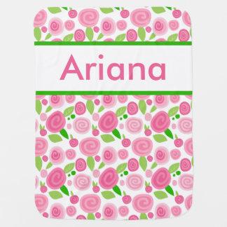 La couverture rose personnalisée d'Ariana Couvertures Pour Bébé