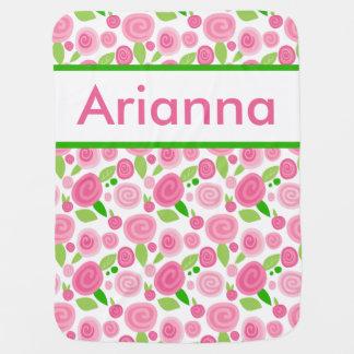 La couverture rose personnalisée d'Arianna Couvertures De Bébé