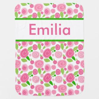 La couverture rose personnalisée d'Emilia Couverture De Bébé