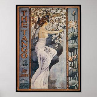 La couverture vintage de Songbook de tango Posters