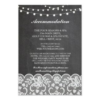 La craie de logement de dentelle allume des cartes carton d'invitation 8,89 cm x 12,70 cm
