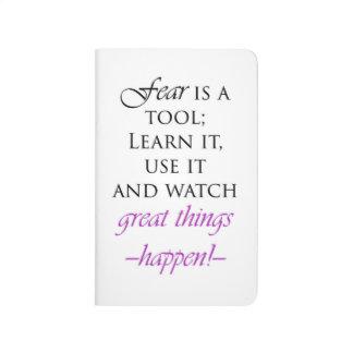 La crainte est un journal blanc inspiré d'outil