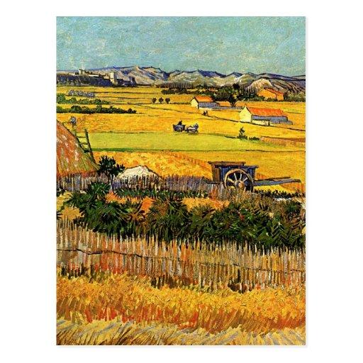 La Crau, Montmajour de récolte de Van Gogh à l'arr Carte Postale