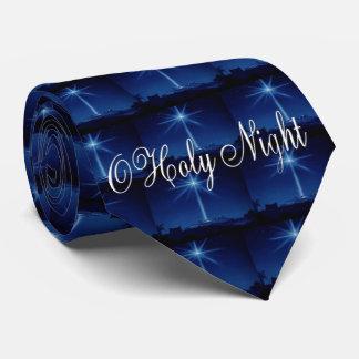 La cravate des hommes bleus de nuit sainte d'O