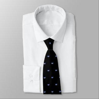La cravate des hommes de couronne d'étoile bleue