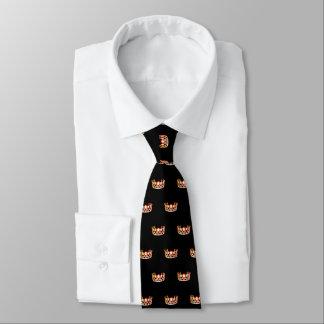 La cravate des hommes oranges de couronne de la