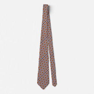 La cravate d'étoile des hommes oranges de fleur