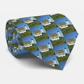 La cravate d'île de phare des hommes en bois du