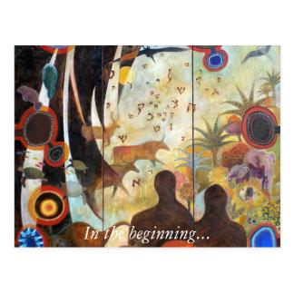 La création du monde, au début… carte postale