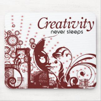 La créativité ne dort jamais tapis de souris