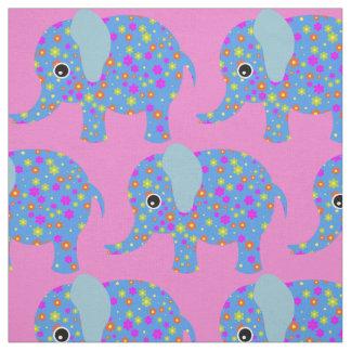 La crèche mignonne de fleur d'éléphant badine le tissu
