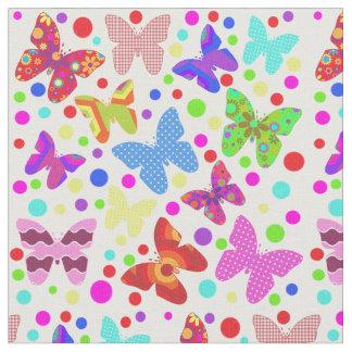 La crèche mignonne de point de polka de papillon tissu
