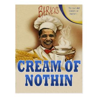 La crème de Barack de la carte postale de Nothin