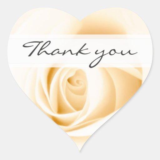 La crème le mariage que rose vous remercient remer autocollants