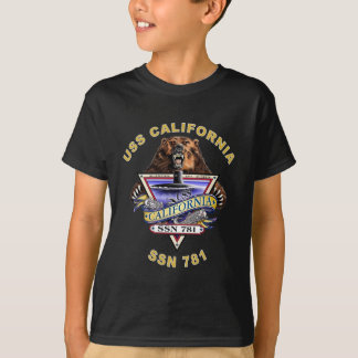 La crête du bateau d'USS la Californie SSN 781 T-shirt