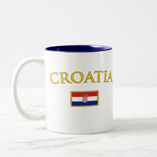 La Croatie d'or Tasse