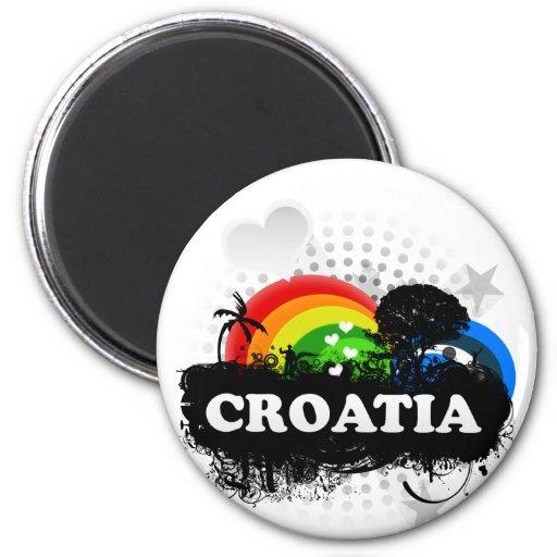 La Croatie fruitée mignonne Magnets