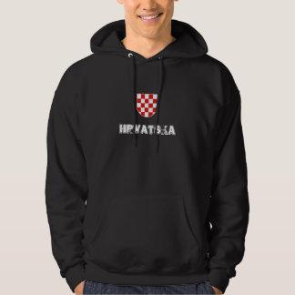 La Croatie (Hrvatska) Veste À Capuche