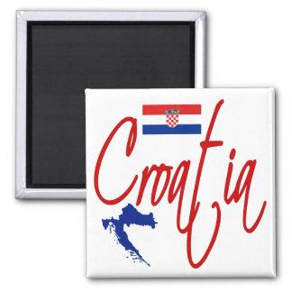 La Croatie Magnet Carré