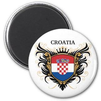 La Croatie [personnalisez] Magnet Rond 8 Cm