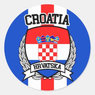La Croatie Sticker Rond