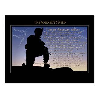 La croyance du soldat carte postale