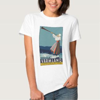 La Cru-Voyage-Affiche-Suède T-shirt