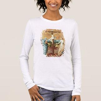La crucifixion avec la Vierge et le St John l'Ev T-shirt À Manches Longues