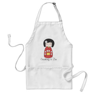 """La """"cuisine est tablier de poupée de Kokeshi de ze"""