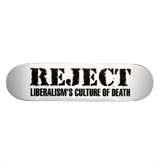 La culture du libéralisme de rejet de la mort plateau de skateboard
