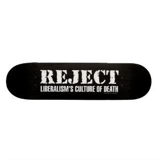 La culture du libéralisme de rejet de la mort skateboards cutomisables