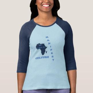 La CULTURE MANIFESTE de bleu folâtre la pièce en t T-shirts