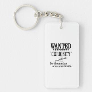 La curiosité est un vilain défaut - couleur faite porte-clefs