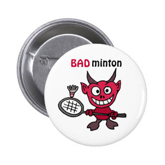 La CZ diable jouant la bande dessinée de badminton Badge