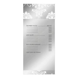 La damassé blanche de PixDezines, spa entretient Carte Double Customisable