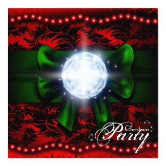 La damassé perle des diamants et l'invitation de carton d'invitation  13,33 cm