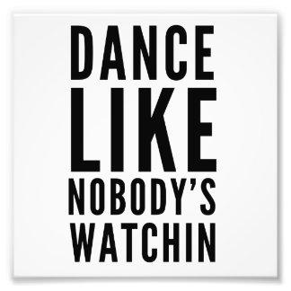 La danse aiment personne Watchin Photo D'art