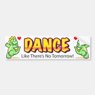 La danse comme là n'est aucun adhésif pour autocollant pour voiture