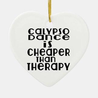 La danse de calypso est meilleur marché que la ornement cœur en céramique